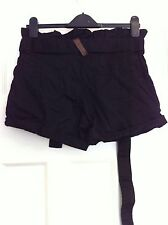 Women's Henley's 100% Cotton Black Shorts Size 8