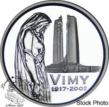 Canada 2002 5 Cents Vimy Ridge Proof Silver Coin