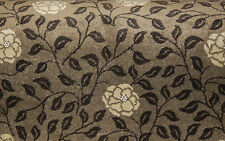 240x400cm (2.4x4m) Quality Solid Brown Floral Patterned Carpet Remnants Roll End