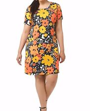 Triste By Gwynnie Bee Chic Retro Floral Shift Women Dress Size 4X