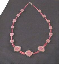 Fantastic Hand Crafted Artisan Polymer Clay (Fimo) Necklace Crosses Coral Beads