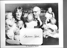 Dr Benjamin Spock Autograph Baby and Child Care ECS Pediatrician Olympian
