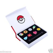 Pokemon Cartoon Anime All 8 Kanto Gym Badges from Generation Gen 1 New in Box