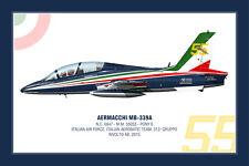 """Aermacchi MB-339A Squadron Print - Poster 30x45- Italian AF """"Frecce Tricolori"""""""