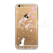 For iPhone 6S Plus SE 4S 5C 5S Case Cover Thin Soft TPU Clear Animal Pet Printed