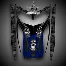 SKI-DOO REV MXZ SNOWMOBILE SLED WRAP GRAPHICS HOOD DECAL KIT 03-07 Reaper Blue