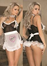 HUSTLER LINGERIE FRENCH MAID SET (BLACK & WHITE)