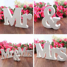 Romantic English Letters Mr&Mrs Wedding Decoration Present Centrepiece Decor