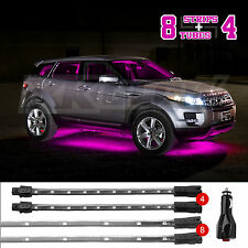 NEW 12pcs PINK Undercar+Interior LED Neon Glow Accent Light  3 Mode Auto Recall