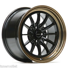 "ULTRALITE UL12 15"" x 8.25J ET20 4x100 4x114.3 BLACK BRONZE ALLOY WHEELS Y3016"