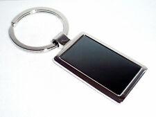 Angebot: massiver Design Edelstahl Schlüsselanhänger, silber schwarz, NEU + TOP