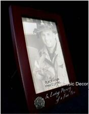Firefighter Memorial Wood Photo Picture Frame Hero Fireman Fire Fighter