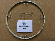 0.56mm x10m 23SWG SOFT Stainless Steel Wire Locking Craft Safety Tying Sculpting