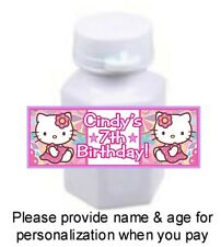 30 Hello Kitty Birthday Party Baby Shower Mini Bubbles Stickers Labels Favors