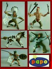 Papo Wild West Western Indian Figures Braves War Hunting Lot Chief Warrior Horse