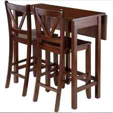 Drop Leaf Tables For Small Spaces And Chairs Set Kitchen Pub Dining Wood High