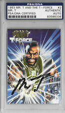 MR. T Signed 1993 T-FORCE Comic Book CARD #2 A Team B.A. BARACUS Cannell PSA/DNA