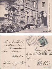 # AOSTA: AVANZI DELL'ANFITEATRO ROMANO NEL CONVENTO DI S. CATERINA  1910