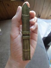 HANDMADE 100% GENUINE CROCODILE 18mm Mossy Green LEATHER WATCH STRAP BAND _ws109