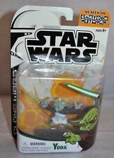 2003 Star Wars Animated Clone Wars Yoda Action Figure Cartoon Network