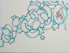 SEEN - SIGNED ORIGINAL GRAFFITI BUBBLE DRAWING - NOT A PRINT - COPE2 INTEREST