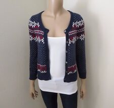 Hollister Women Cardigan Sweater Size Small Top Shirt Sweatshirt Navy Blue