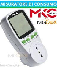 MISURATORE DI CONSUMO 16A 230V CON DISPLAY LCD MELCHIONI ITALIA MKC-POWER EASY