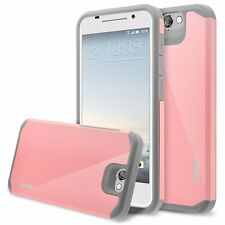 RANZ® HTC One A9 Grey/Pink Hard Impact Dual Layer Shockproof Bumper Case