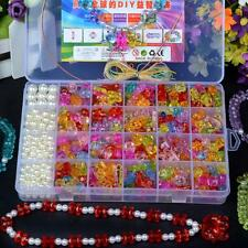 600Pcs/Box Kids Crafts Jewelry Set Creative Wear Beads Kit Necklace Bracelet DIY