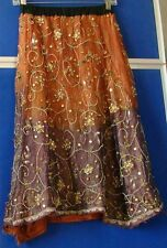 UNIQUE DESIGN Girls LONG INDIAN Party SKIRT w. SEQUINS & BEADS Waist 10to28 inch