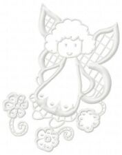 Cutwork Fairies 10 Machine Embroidery Designs on multi-formatted CD 2 sizes