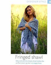 Crochet pattern-Lady's Merino DK bordée de soie châle à crocheter DS4