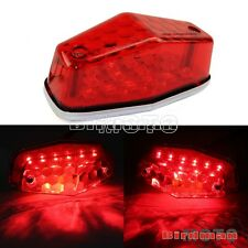 Plastic Lucas Type LED Tail Light Rear Brake Light Assembly Red Lens Universal