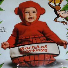 BARREL OF MONKEYS BUNTING SACK HALLOWEEN COSTUME BABY INFANT CHILD TODDLER 0-6
