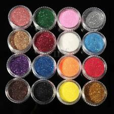16 Mixed Color Eyeshadow Glitter Powder Makeup Eye Shadow Cosmetics Salon Set