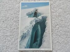 A Crevasse in a mountain in Germany Postcard