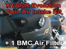 BMW K1200R Evolution Twin Air Intake Kit + 1 BMC High Flow Filter FM439