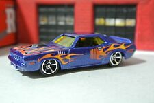 Hot Wheels '71 HEMI Cuda - Blue w/ Flames - Loose - 1:64