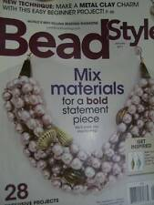 Bead Style Magazine January 2011 -28 Projects- Metal Clay Charm, Mix Materials