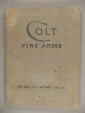 Colt Fire Arms CATALOG - January, 1933