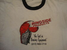 Vintage Ringside Products Boxing Glove Equipment Ringer 80's 50/50 T shirt L