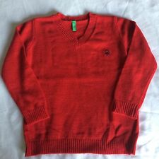 Sale!!  Bennetton 2yrs Boys Red Classic Smart Jumper Kids Clothes