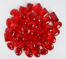 Brazilian 3000 Ct. Beautiful Translucent RED Topaz Mix Shape Loose Gemstone Lot