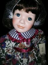 """Beautiful Porcelain Doll """"Becka"""", 1997 Special for JC Penny! New in Box.NOS!"""