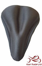 Comfortable soft road bike Bicycle MTB Memory Foam Skid Seat Saddle Cover Black