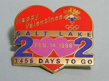 SALT LAKE CITY 2002 Winter OLYMPICS Games Holiday PIN - Valentines Day 1998