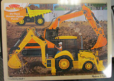 Melissa & Doug Diggers at Work  Kids Wooden Jigsaw Puzzle 24pc 9064