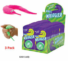 Set of 3x Magic Wriggler Toy Furb Worm Like Real Sensory Autism Stress Relief