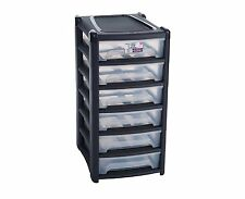 Wham® A4 Shallow 6 Drawer Tower Plastic Stackable Modular System-12288