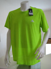 Men's Training Apparel ADIDAS ULTIMATE STRIPE TEE T-Shirt Solar Lime D88514 L